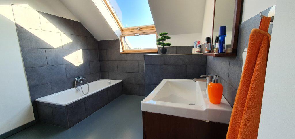 Badezimmer nach der Sanierung