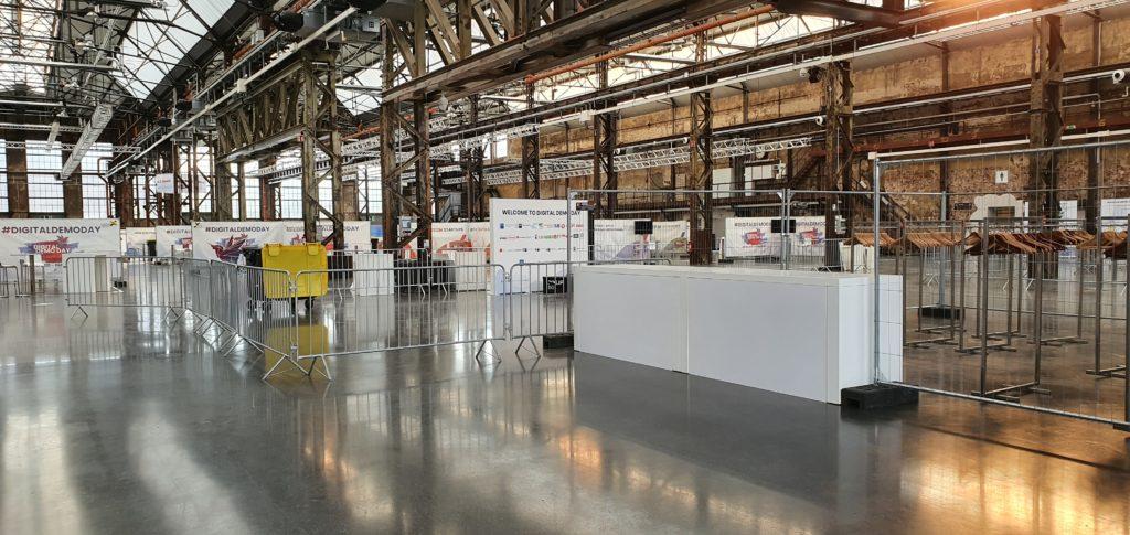 Düsseldorf Absperrgitter AREALBÖHLER Hallen